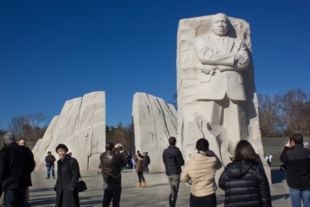 MLK Monument- Michelline Hall Photos from Washington DC Dec 2013